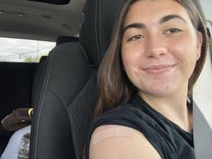 Natalie Spina, Nutley High School Maroon and Gray, COVID vaccine,