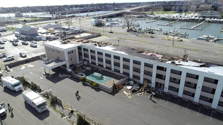 UPDATE: Tornado Ruled Out for Ripping Off Roof from Neptune Hotel During Fast-Moving Storm