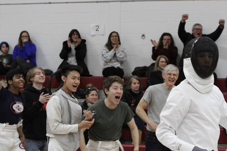 New junior epee Nic Martinez wins in his first career bout.jpg
