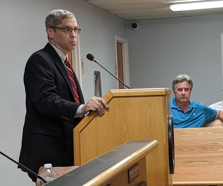 Neil Rubenstein and Mike Ross present at the Fanwood Council meeting on Monday, Sept. 16.