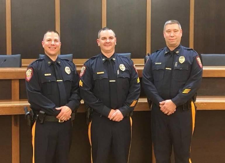 (L-R) Sgt. Todd Mele, Lt. Kevin Tennant and Sgt. Brian Blath