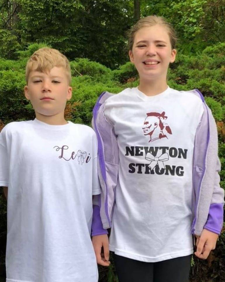 Newton youth football player and cheerleader Rocco and Lina Brunelleschi.jpg