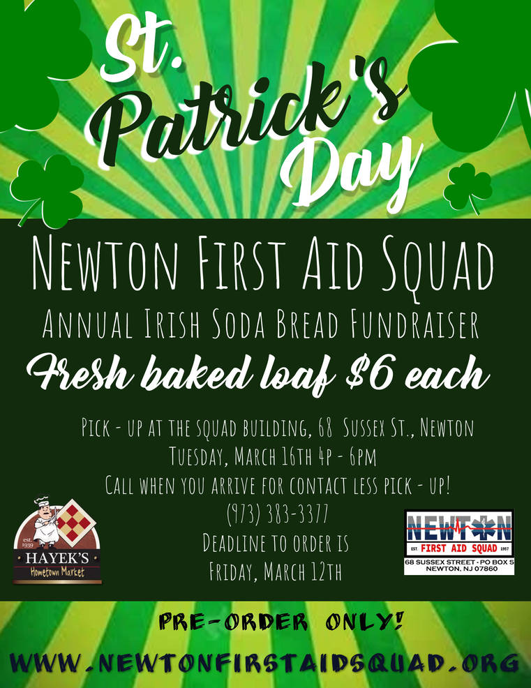 Newton First Aid Squad St. Patrick's Day Fundraiser