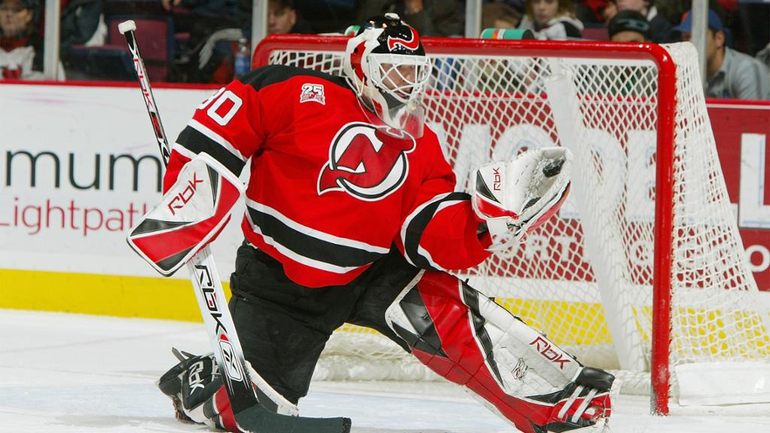 NHL Hall of Famer Martin Brodeur of the NJ Devils