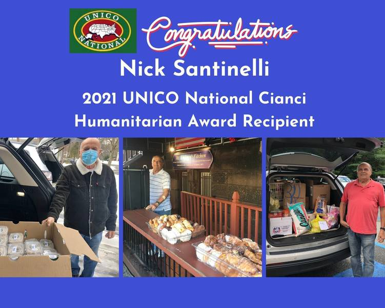 Livingston's Nick Santinelli to Receive National Humanitarian Award for Exceptional Service