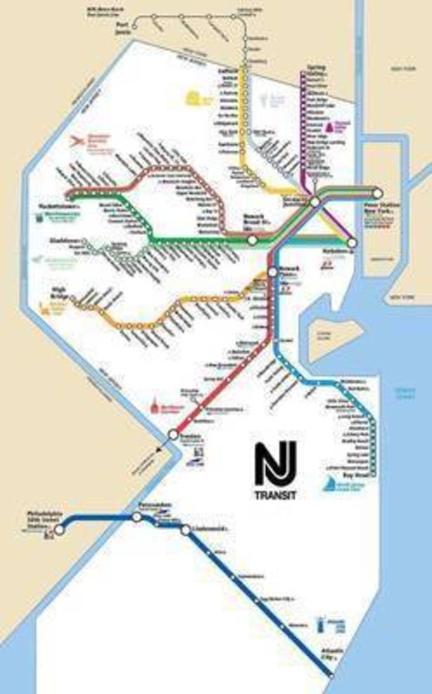 NJ Transit map