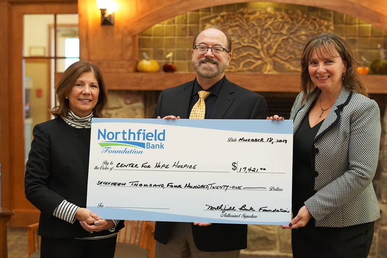 Northfield bank donation.jpg