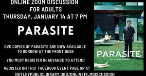 Nutley Public Library Virtual Film Discussion: Parasite