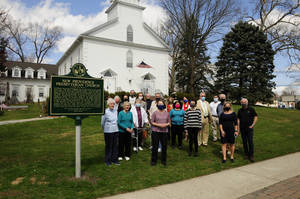 Photo Op Marks Installation of Borough's First Historical Marker