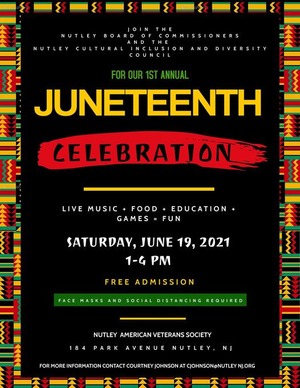 Nutley Cultural Inclusion and Diversity Council, Nutley Juneteenth,