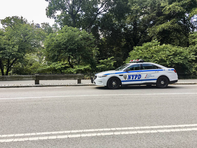 NYPD Highway Trying to Slow Down Drag Racers