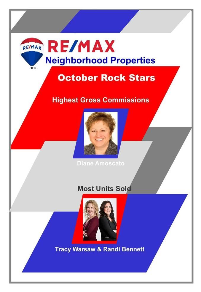 RE/MAX Neighborhood Properties Announce Their October Rock Stars