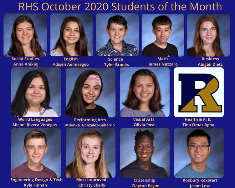 Roxbury HS Selects October Students of the Month