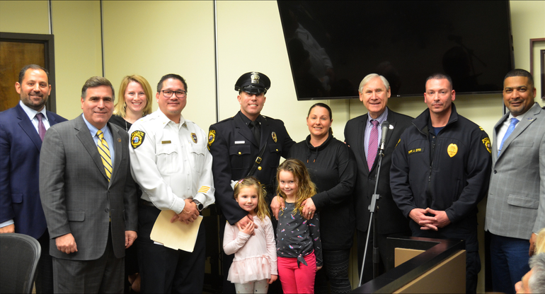 Scotch Plains police officer Brian Regenthal and his wife, Melissa, have two daughters, Madison and Avery.