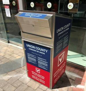 Carousel image 98dead7c45eb4bfd8ade official ballot drop off box