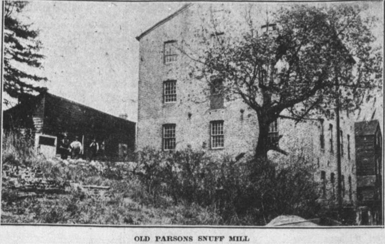 Old Parsons Snuff Mill with tobacco drying alongside.jpg