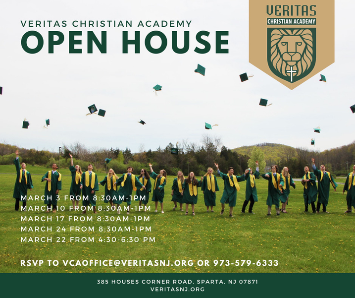 Veritas Christian Academy in Sparta to Hold Open Houses