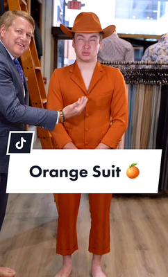 "Josh Morris, AKA ""The Man in the Orange Suit,"" is a TikTok star."