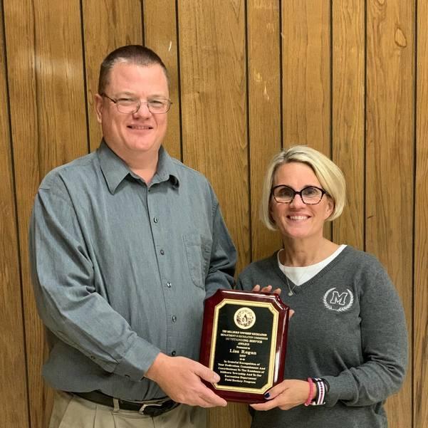 Millburn Recreation Dept. Outstanding Service Award - Lisa Regan 2019
