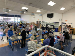 Chatham High Key Club President Truppo Organizes the Making of 25,000 Meals for 5th Annual Outreach Program