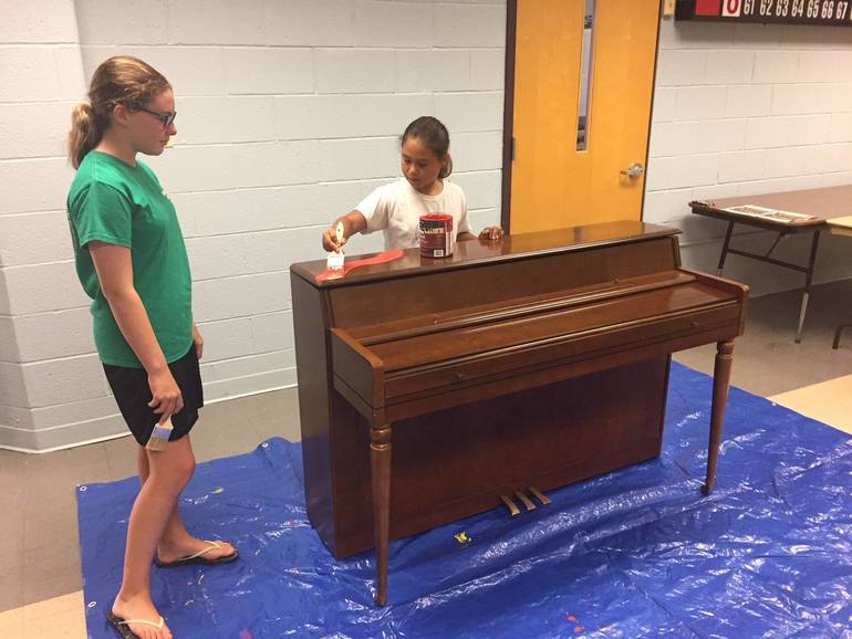 New Piano Placed at Eastman Plaza