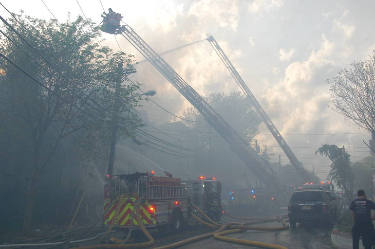 Paterson Firefighters Battle Second Major Blaze Sunday
