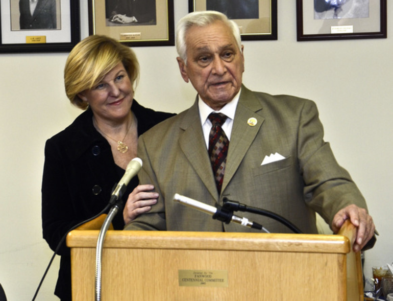 Fanwood Mayor Colleen Mahr with then-Councilman Tony Parenti in 2013