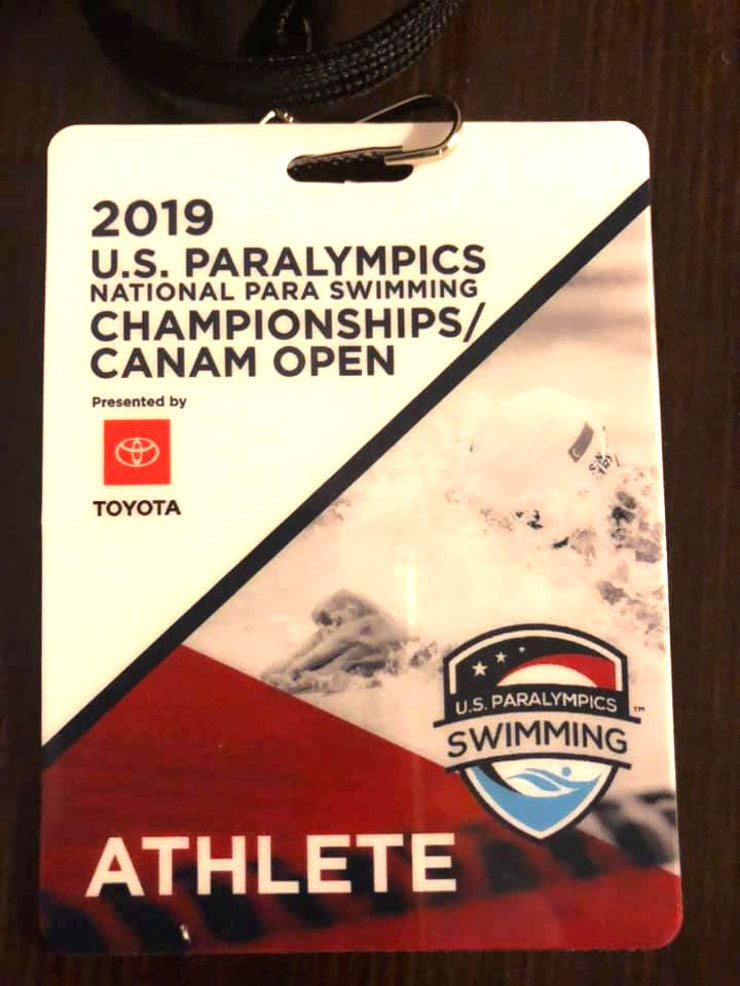 Ethan and Gavin Morrobel of Scotch Plains competed at the Para-Olympic swimming competition in Texas.