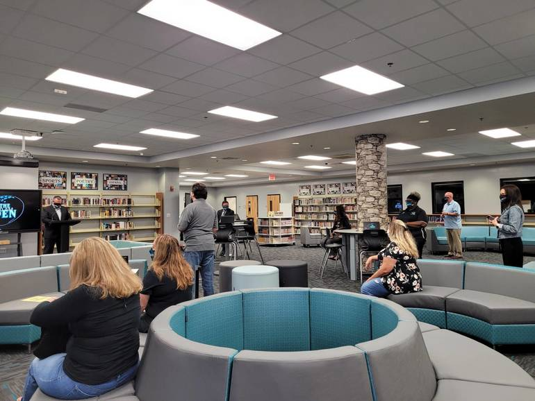 "New ""Den"" At Coral Glades High School Encourages Students To Work Together"