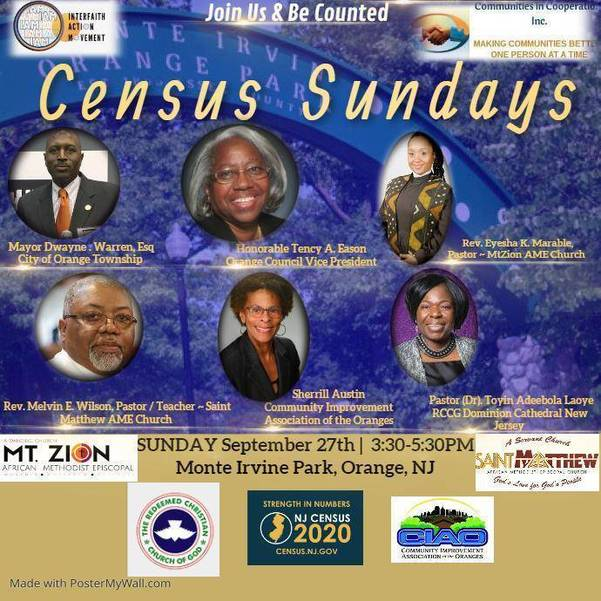 I AM Census Family Reunion Sunday 9/27/20