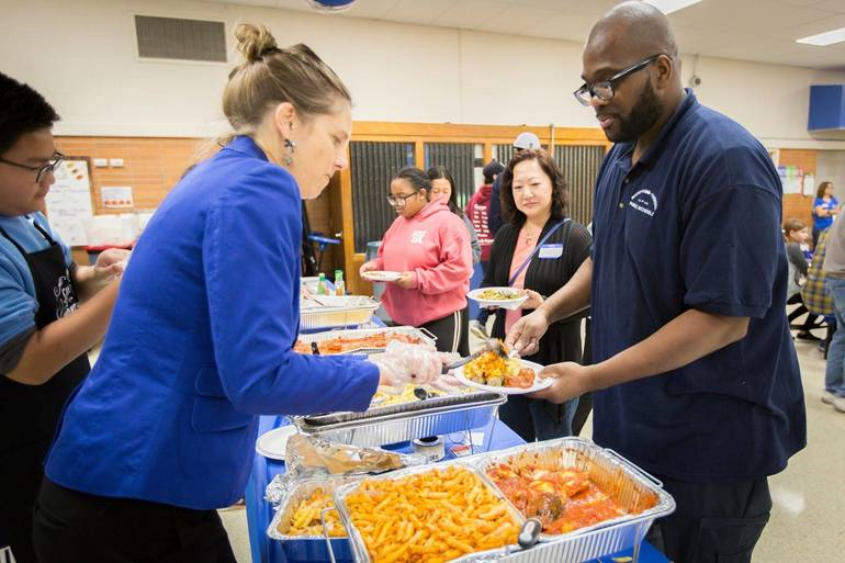 Scenes from the Scotch Plains-Fanwood HS Music Boosters Pasta Night