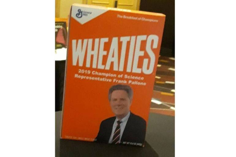 Why is Congressman Frank Pallone on a Box of Wheaties?