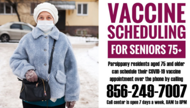 Phone Number for Parsippany's Seniors to Schedule Their Vaccine