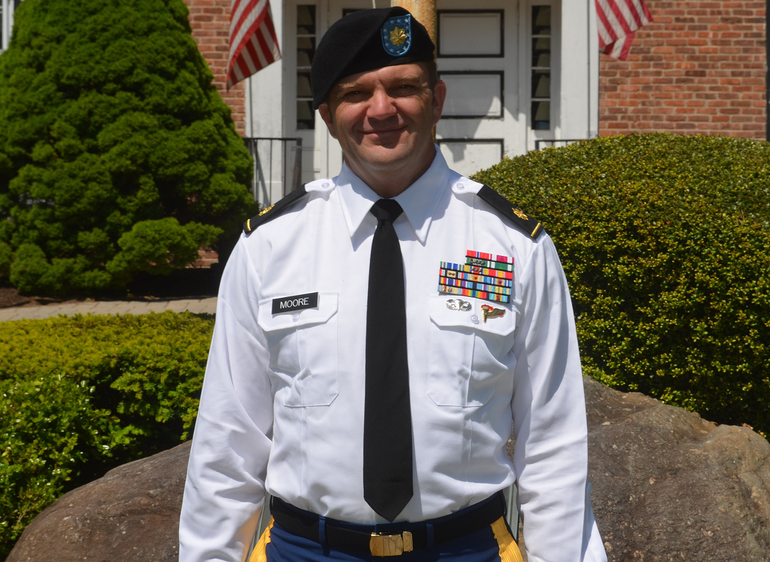 Major Patrick Moore of Fanwood is co-Grand Marshal of the Scotch Plains-Fanwood Memorial Day Parade.