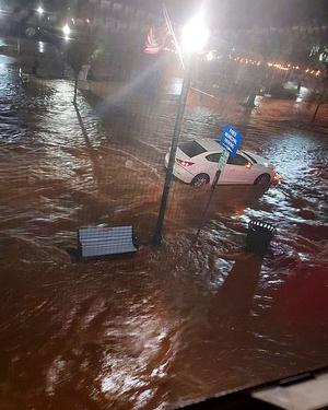 Flooding on Park Ave. in Scotch Plains.