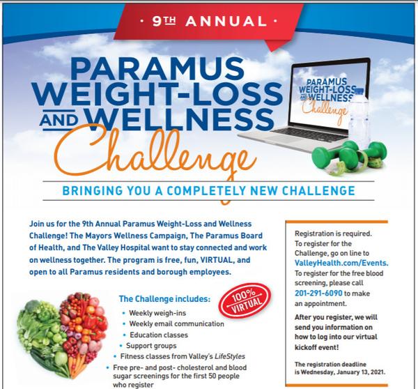 Paramus Weight Loss Wellness Challenge Begins Jan 18 Tapinto
