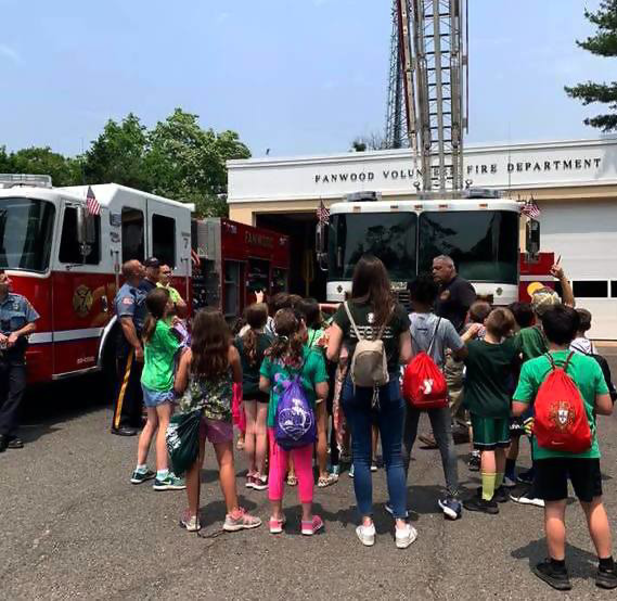 The Fanwood Police Dept., Fire Dept. and Rescue Squad hosted a public safety field trip for McGinn School 3rd graders on Thursday, June 6, 2019.