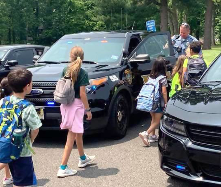 The Fanwood Police Dept., Fire Dept. and Rescue Squad hosted a public safety field trip for McGinn School 3rd graders on Thursday, June 6, 2019