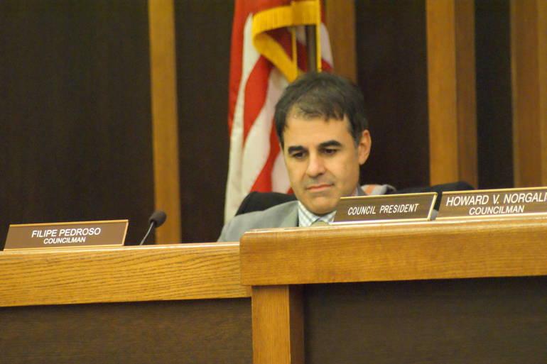 Council vice president Filipe Pedroso