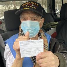 99-Year-Old WWII Veteran and Cranford Resident Receives Second COVID-19 Vaccine Dose