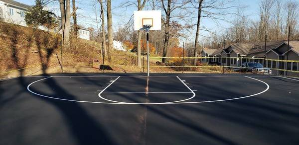 Peer Place Basketball Court Renovated By Denville Rotarians Tapinto