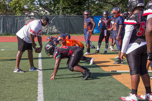Carousel image e97ba8080b228b7c7553 photo 2 a ny giant leads a drill at a paterson football practice last week.