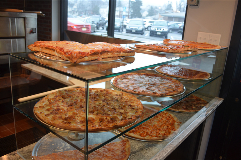Pizzas at Max's Pizza & Bistro in Scotch Plains.png