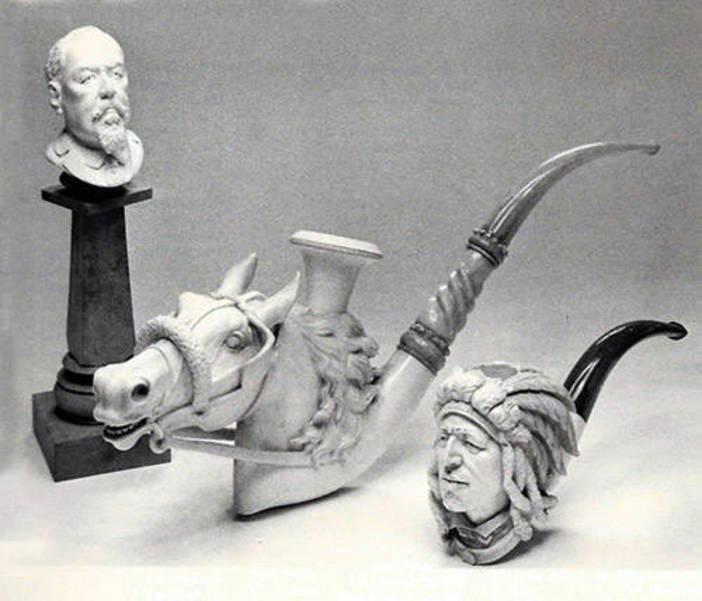 Meerschaum pipes ca1900-1918