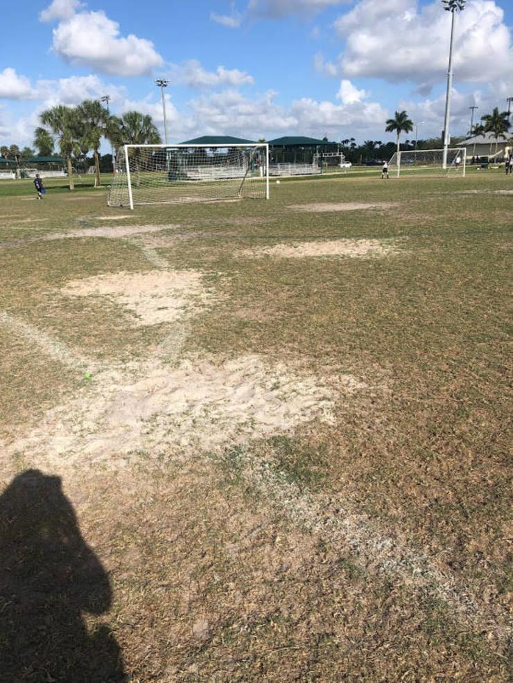 Back Fields at Pine Trails Park Under Renovation
