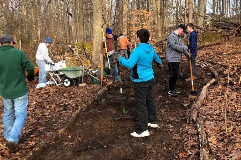 Boy Scout Troop 33's Latest Eagle Project: Brookside Nature Trail in Scotch Plains