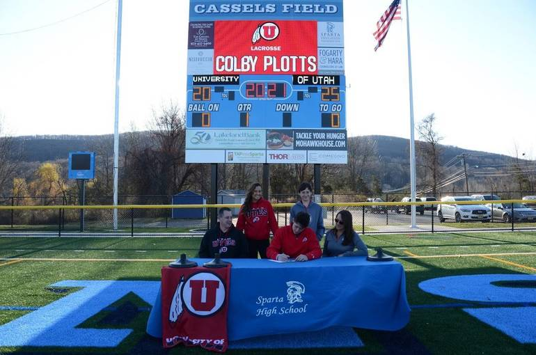 Sparta High School Student Athlete Colby Plotts Signs Letter of Intent