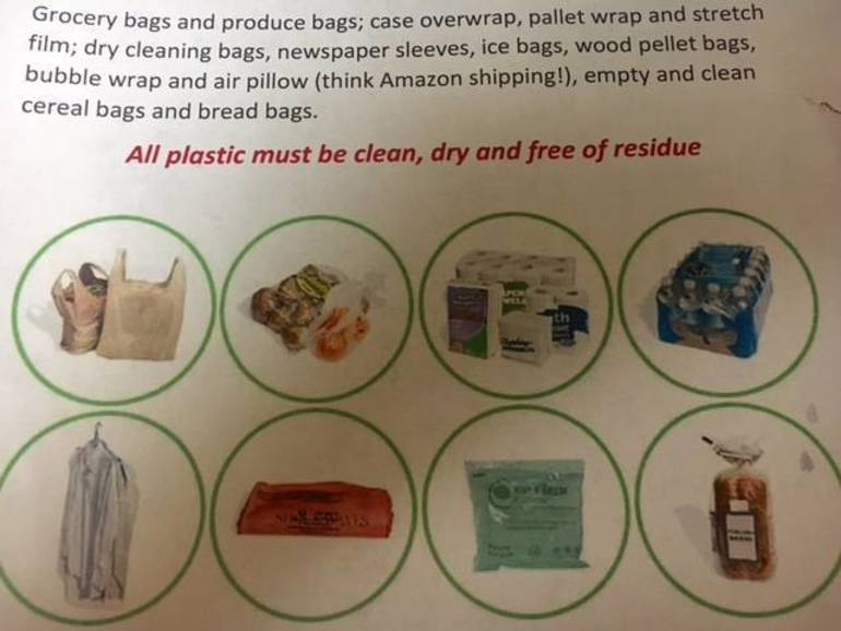 Plastic bags & wrap to be collected