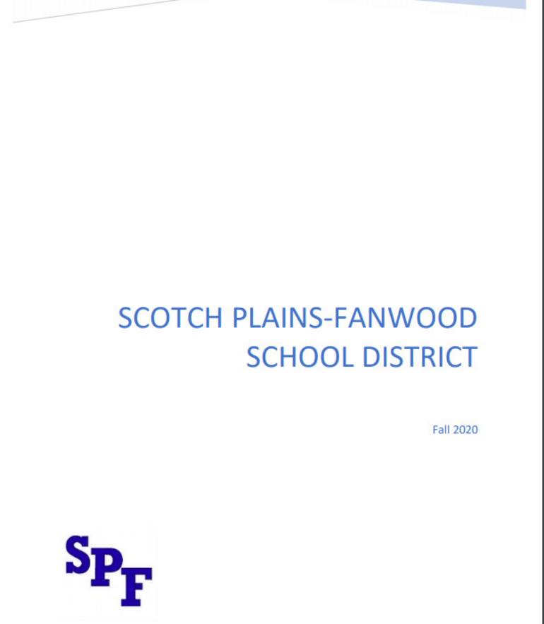 Scotch Plains-Fanwood School K-12 District Reopening Plan