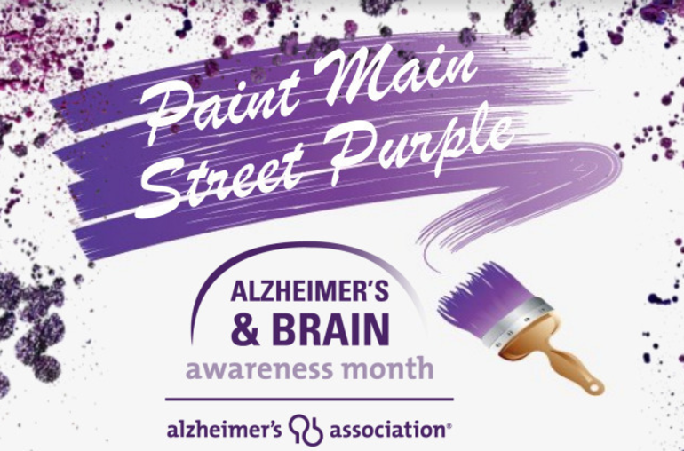 fe4685b4542 ... Main Street in Succasunna could soon be festooned with purple in a show  of support for brain ... Credits: Alzheimer's Association of Greater New  Jersey